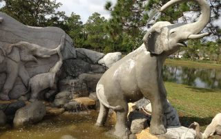 Palm Beach Gardens custom concrete art