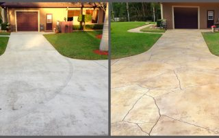 repair cracks in cement before and after