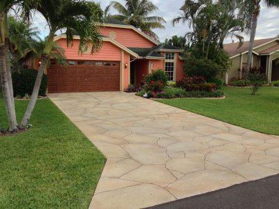 Port Saint Lucie concrete driveway coating
