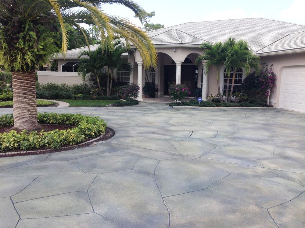 Delray Beach concrete driveway resurfacing Viewcrete